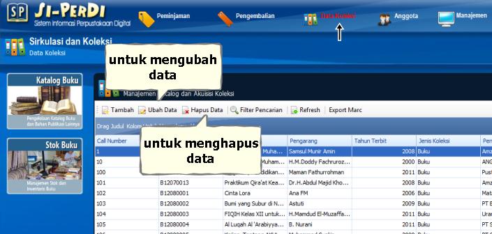 ubah dan hapus data